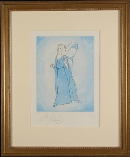 Pinocchio BLUE FAIRY LE Framed Etching Art Print Disney