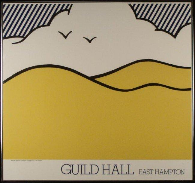 Roy Lichtenstein Guild Hall Landscape Print Framed