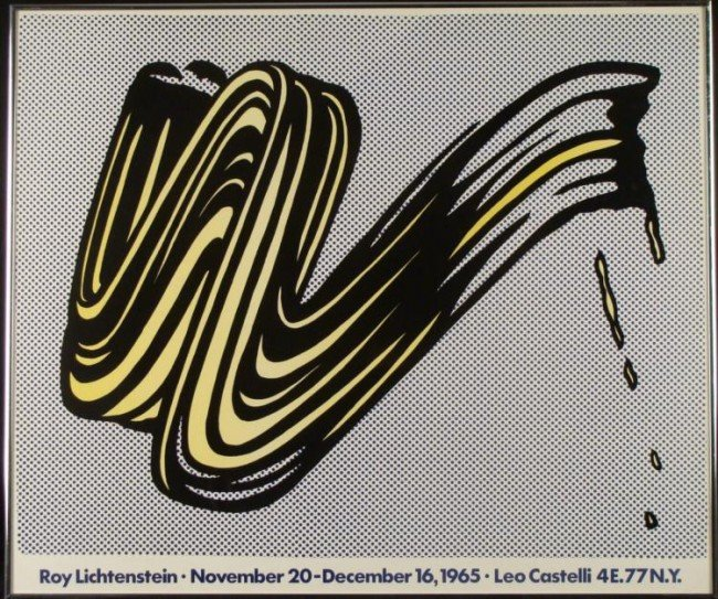 Roy Lichtenstein 1967 Exhibition Poster Print Framed