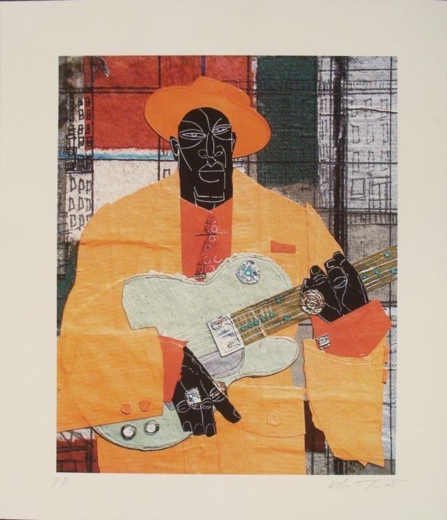 Willie Torbert : Player in Town Guitarist Man Art Print