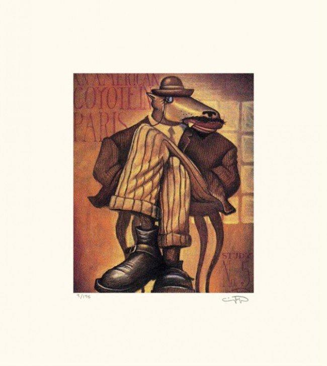 Markus Pierson 'AMERICAN COYOTE IN PARIS NO. 5'