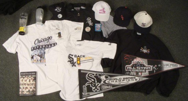 Chicago White Sox Dealer Lot- Pennants Hats Jacket Book