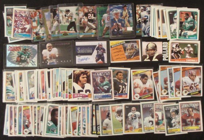 121 Football Cards 1970's-2000's Moon Young Sharpe