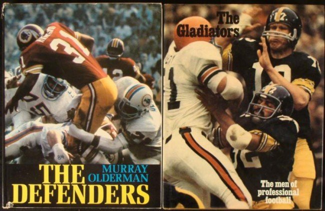 2) Football Books The Defenders and The Gladiators 1973