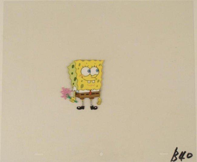 Original Art Cel These Are For You Animation Spongebob
