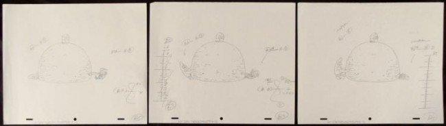 3 Consecutive Drawings Art Spongebob Original Animation