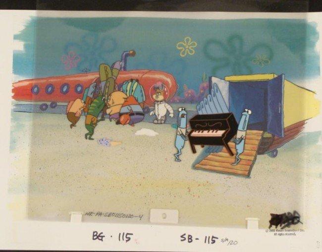 Background Packing Up Original Cel Spongebob Animation