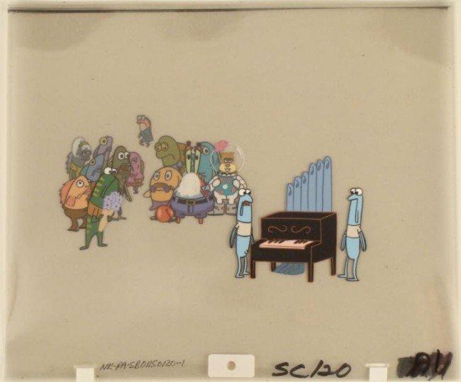 Cel Original Production Mourning Squidward Production