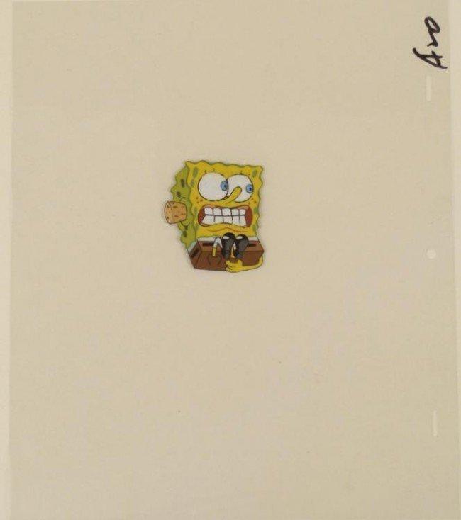 Spongebob Cel Production Original Useless Ear Plugs Art