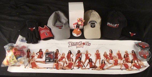 Chicago Bulls Dealer Lot Bobble head Hats Poster Cards
