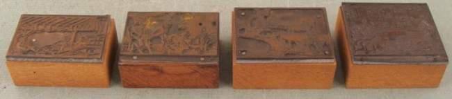 4 Kodak Camera Ad Copper Print Blocks Family 1920s