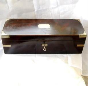 IMPRESSIVE ANTIQUE INSTRUMENT BOX ROSEWOOD with KEY c