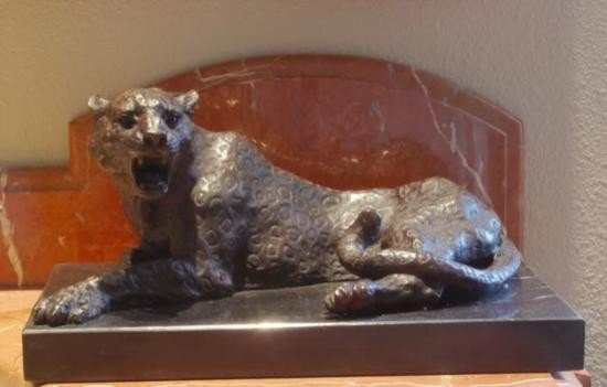 Magnificent Bronze Sculpture Panther