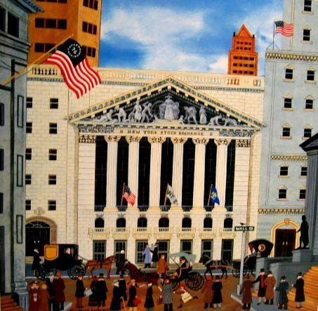 The Stock Exchange by Jane Wooster Scott Signed Litho