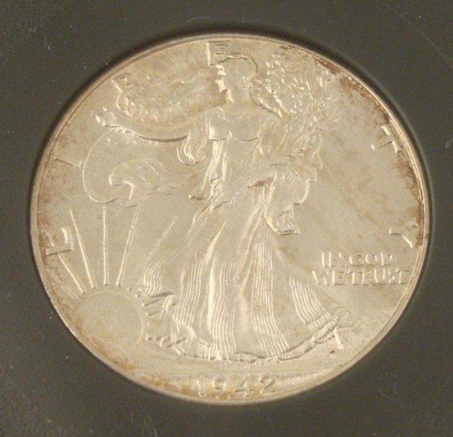 Graded MS 68 1942 Walking Liberty Half Dollar