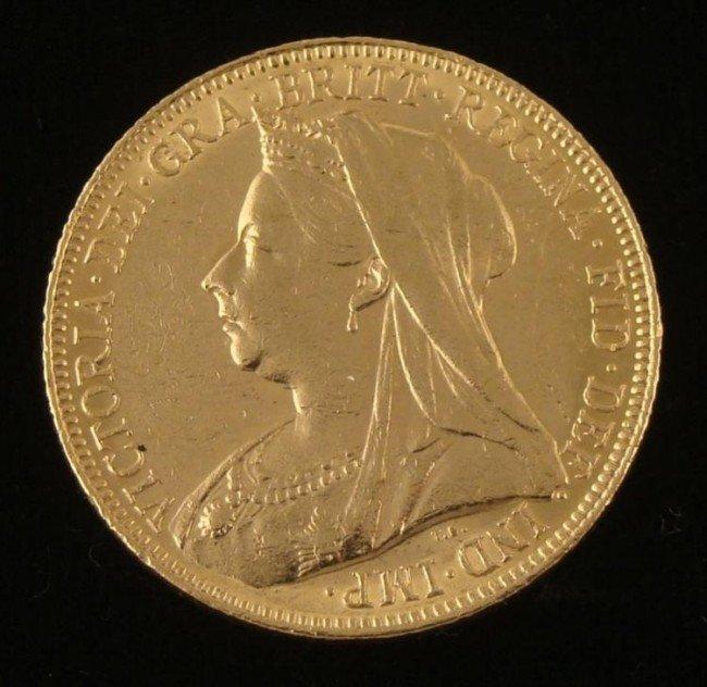 Great Britain Victoria DG Gold English Sovereign 1901
