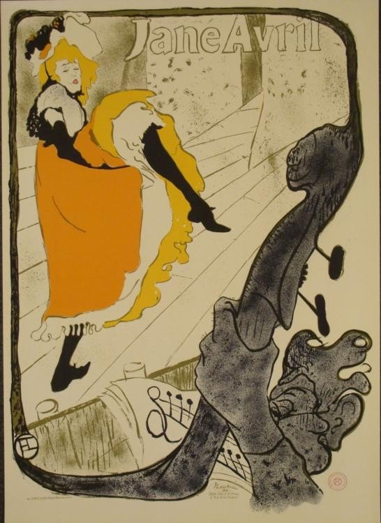 Henri de Toulouse-Lautrec Jane Avril Moulin Rouge Print