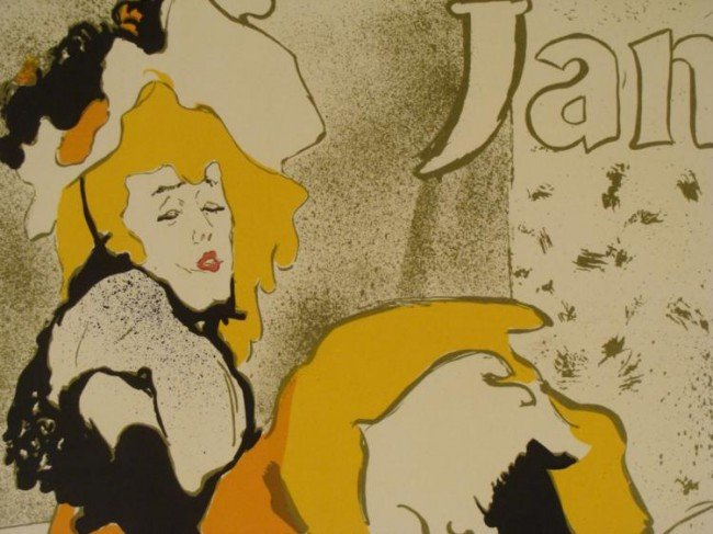 Henri de Toulouse-Lautrec Jane Avril Moulin Rouge Print - 2