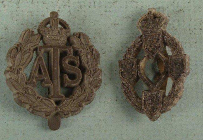 TWO BRITISH REGIMENTAL BADGES