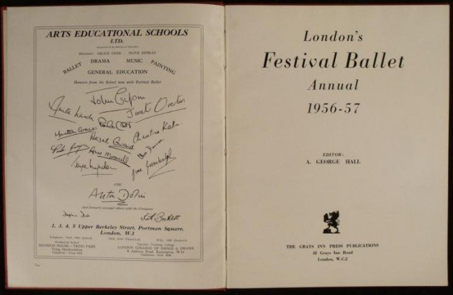 LONDON'S FESTIVAL BALLET ANNUAL HC BOOK -1956-57