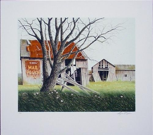 Signed LE SPRING BARN Mail Pouch Art Print Wayne Cooper