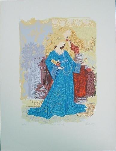 Russell Barrer Romantic ROMEO JULIET Signed Art Print