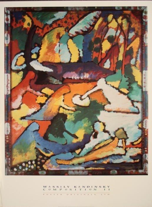 Kandinsky Composition II Large 3 x 4 ft Art Poster