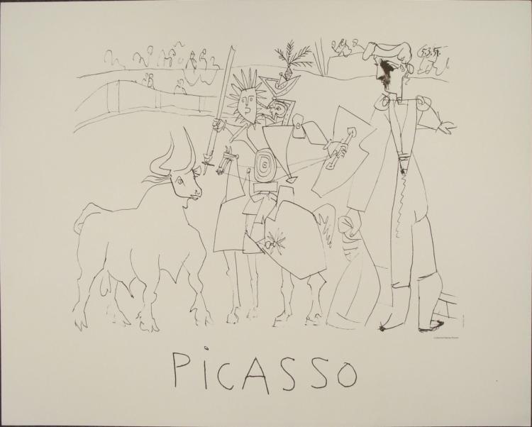 Pablo Picasso : Bullfight Art Print