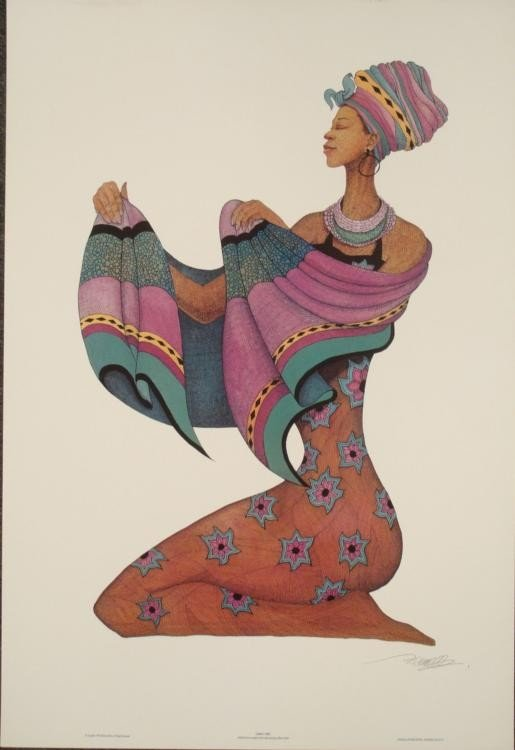 Albert Fennell : Shanna's Shawl African Art Print