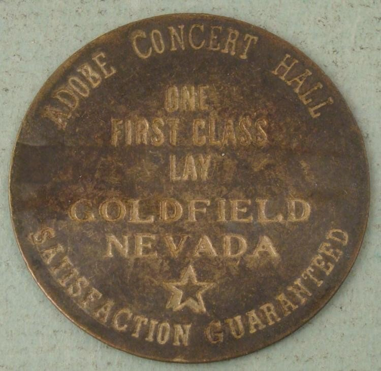 Orig Whore House Brothel Token Adobe Concert Hall Lay