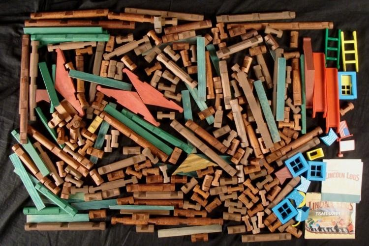 Lincoln Logs Classic Toy Lot Collection Asst Pieces