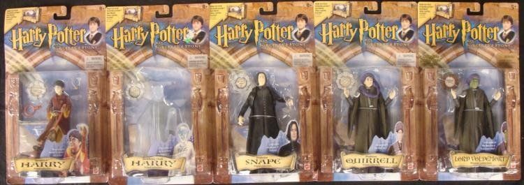 5 Harry Potter Action Figures Lot Quirrell, Snape, Mint