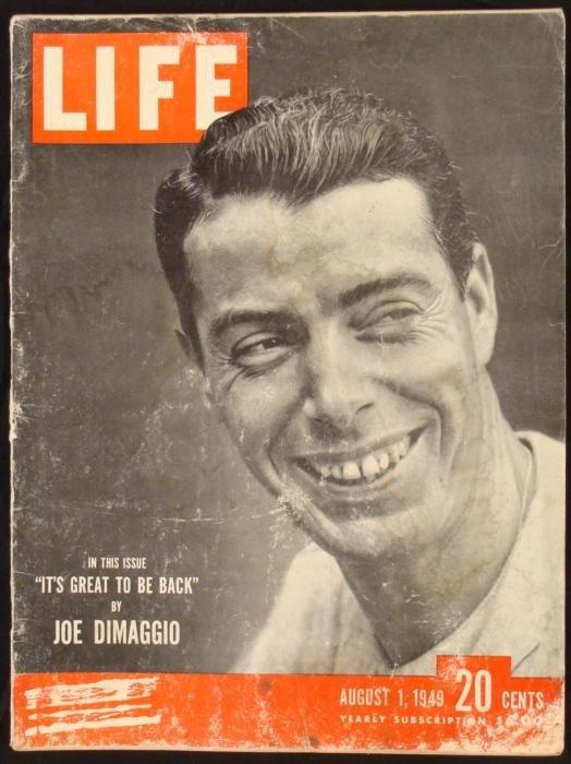LIFE Magazine August 1, 1949 Joe DiMaggio Yankees