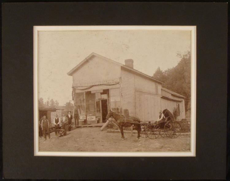 Big Antique 8x10 Photo General Store Post Office 1800s