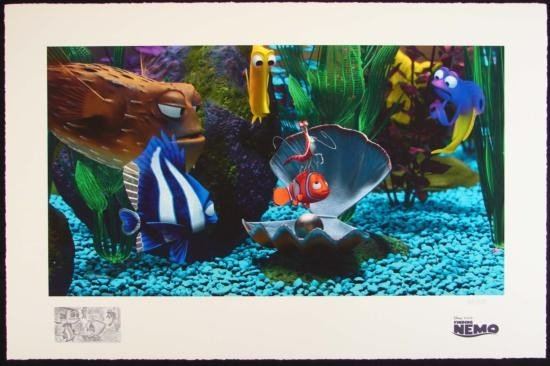FINDING NEMO Disney LE Print Art TANK GANG + Remarque