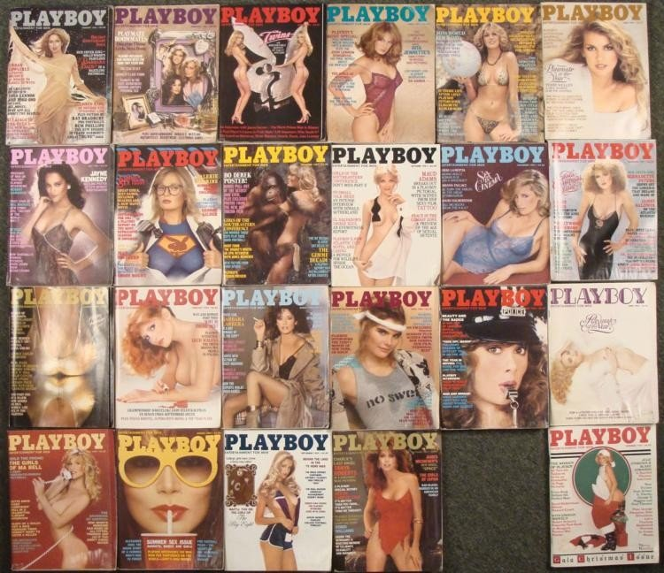 1981-1982 Playboy Magazine Near Complete Set 23 Lot