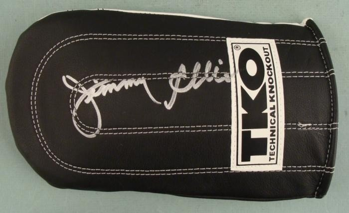 Jimmy Ellis Signed Training Boxing Glove -Ali Fighter