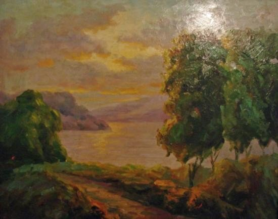 OIL ON CANVAS - ~Coastal Landscape~ Scene