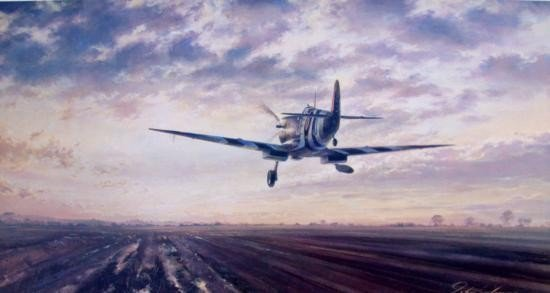 D-Day - A New Dawn for Europe John Young Spitfire L/E