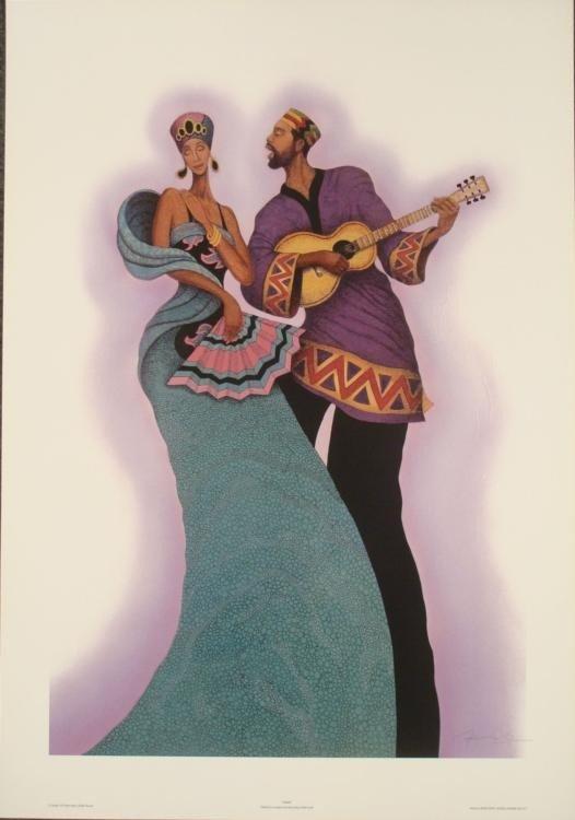Albert Fennell : Serenade Guitarist Art Print