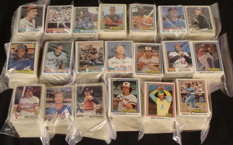 Over 3000 Early 1980's Baseball Cards Topps Donruss