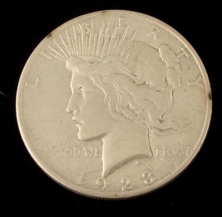 1923 D Peace Dollar Grade Strong VF
