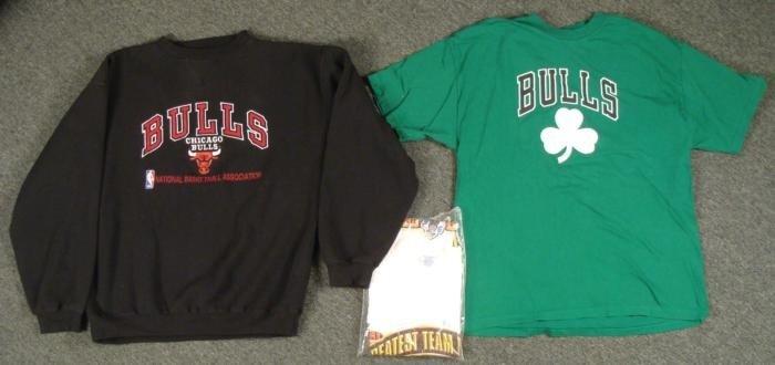 Chicago Bulls Lot St Patricks Day T Shirt Sweatshirt XL