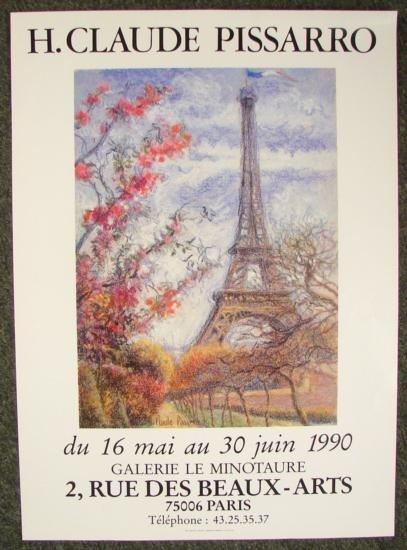 H.CLAUDE PISSARRO French Impressionist Art Poster Paris