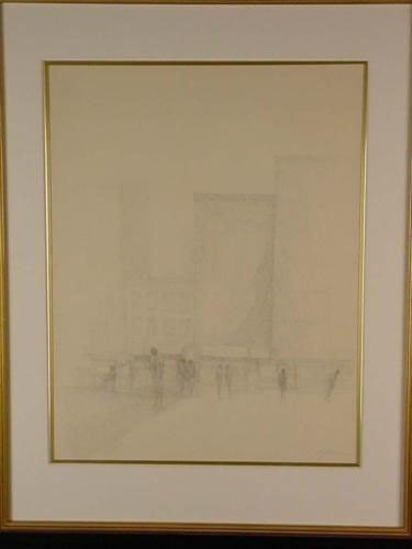 Original 1968 Harold Altman Pen & Ink Drawing Signed
