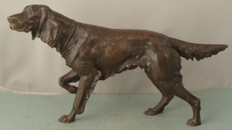 Jennings Brothers Metal Sculpture Setter Dog JB2591