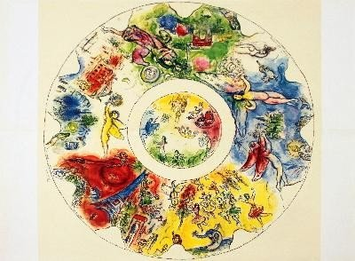 1965 Chagall The Paris Opera Ceiling Lithograph