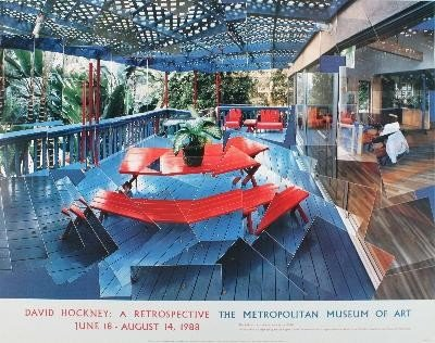 1988 Hockney Terrace without Shadows Poster