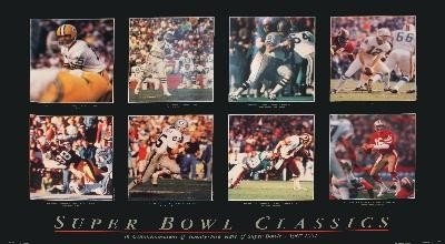 Nickelback 25 Years of Super Bowls 1967-91 Poster