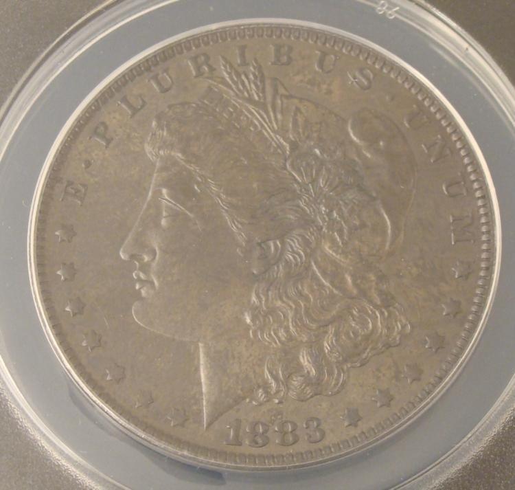 1883-O Morgan Silver Dollar MS60 Toned ANACS Certified